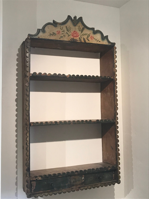 Spanish colonial 18th century handpainted shelf - Shop Spanish And Spanish Colonial Furniture At Morning Star Traders
