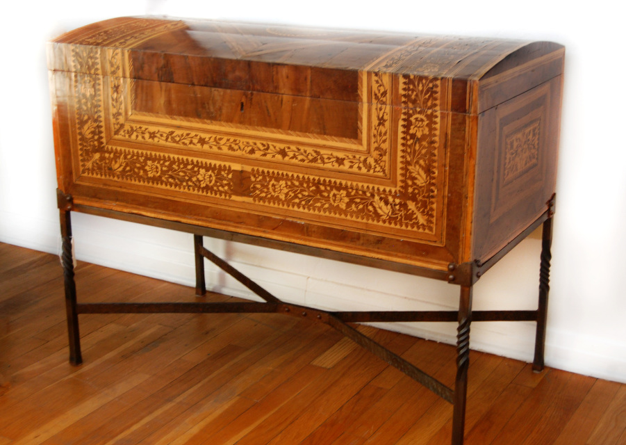Mexican Pueblo 17th century inlay marquetry chest - Shop Spanish And Spanish Colonial Furniture At Morning Star Traders