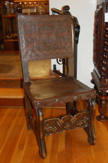 Spanish Colonial Style Side Chair From Peru